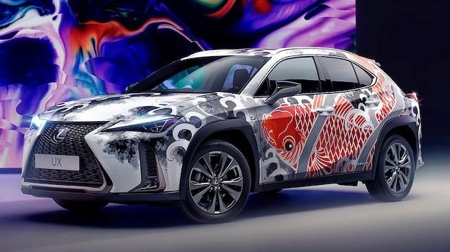 Lexus UX with tattoos
