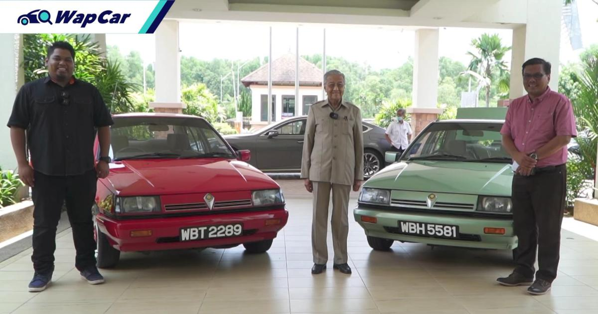 Tun M checks out some restored Proton Sagas; Confirms Perodua Ativa is his own car 01