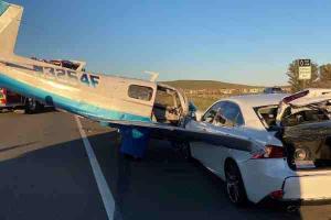 Plane T-bones Lexus IS, how do you explain that to the insurance company?