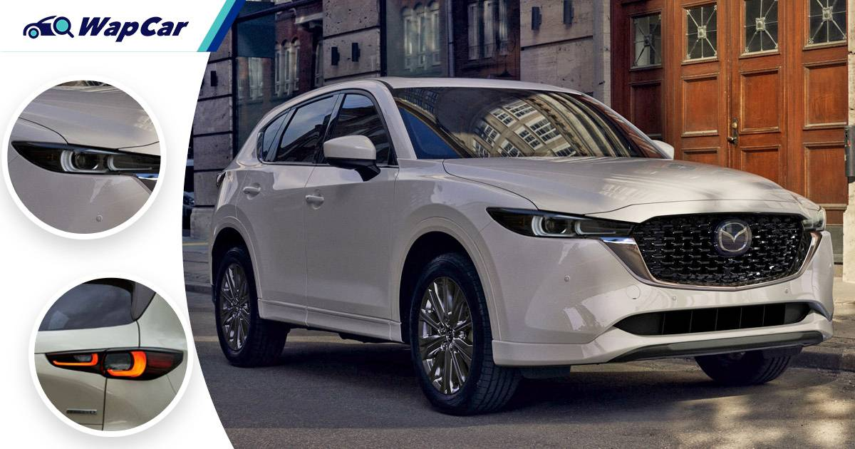 New 2022 Mazda CX-5 facelift debuts with revised styling and better suspension 01