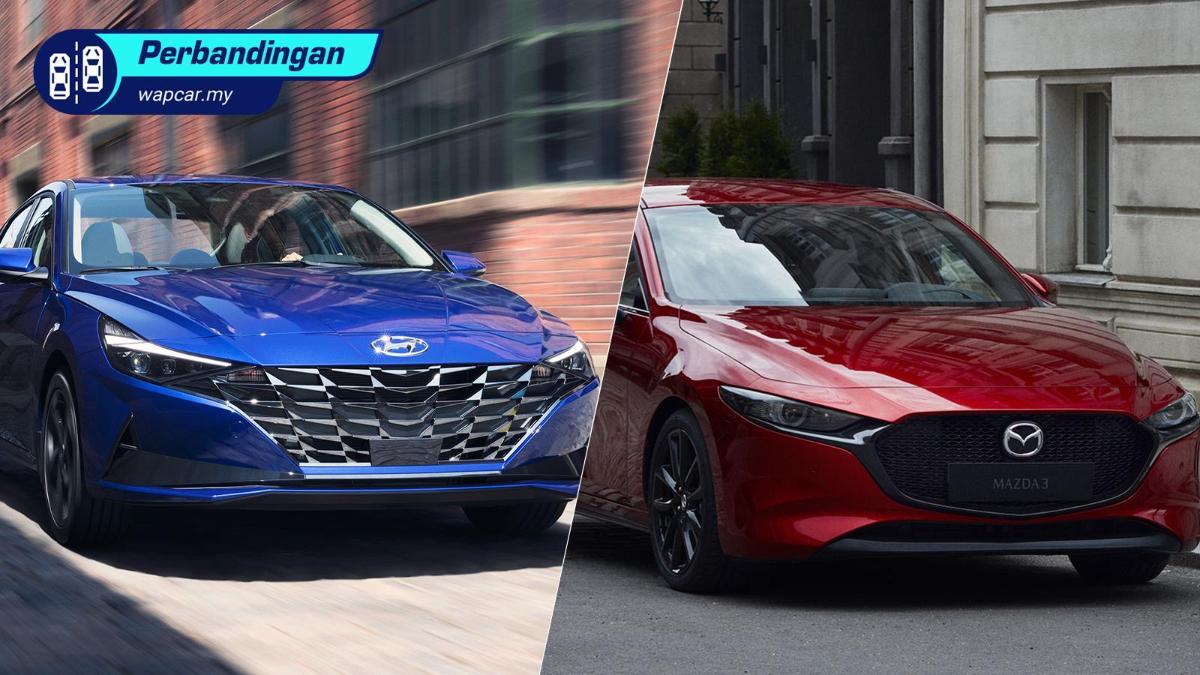 Hyundai Elantra vs Mazda 3 sedan - Hyundai kini lebih premium berbanding Mazda? 01