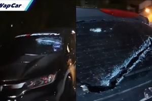 Siapa khianat pecahkan cermin 8 kereta di KD Driving Range?