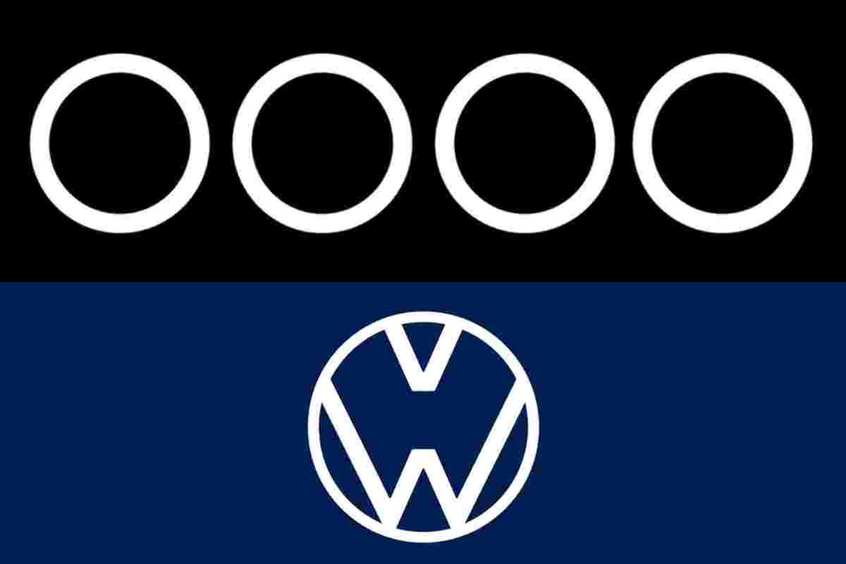 Audi and VW tweaked their logos to encourage social distancing