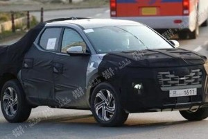Spied! Hyundai's first pick-up truck testing on the road