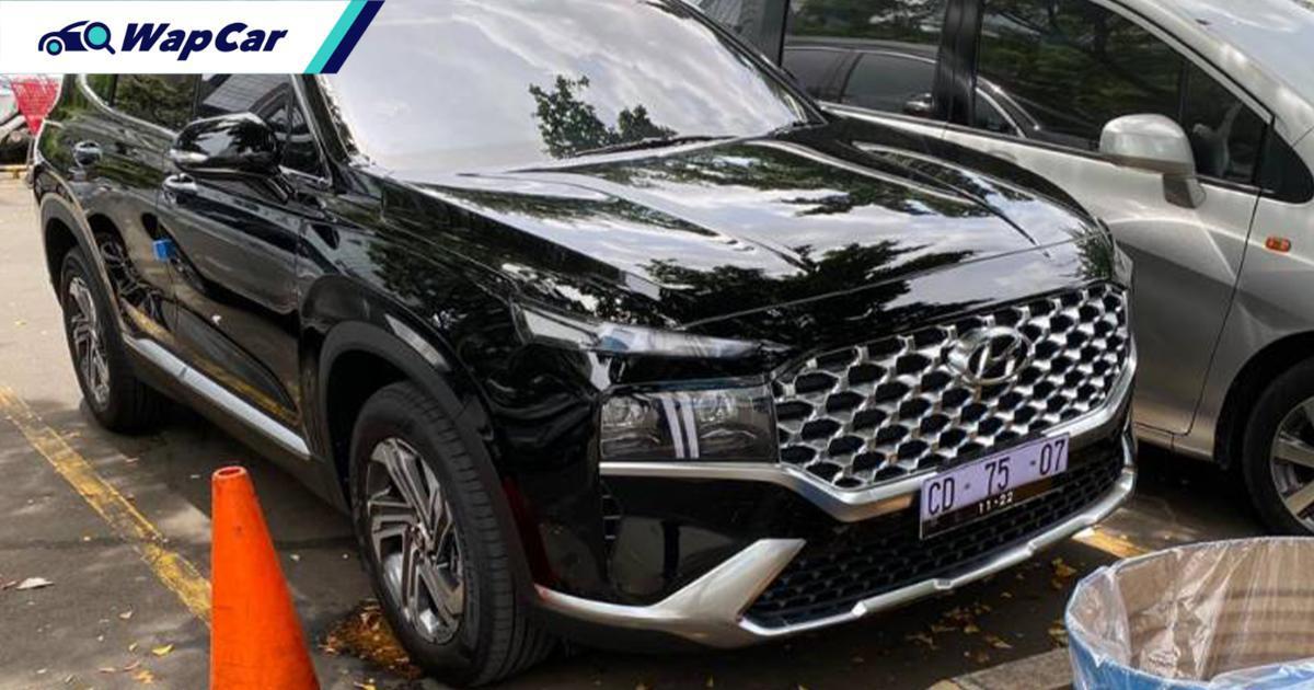 Hyundai Santa Fe 2021 facelift dikesan di Indonesia, pelancaran April. Malaysia seterusnya? 01