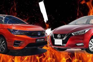Nissan Almera vs Honda City, should you pick turbo or hybrid?