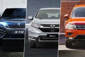 Proton X70 vs Honda CR-V vs Volkswagen Tiguan - 3 SUV mantap berentap dalam segmen C!