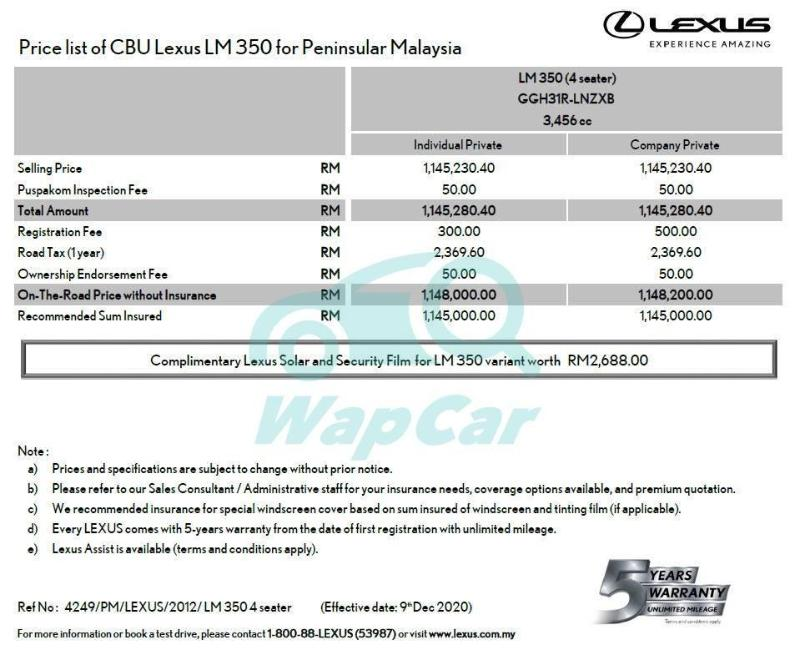RM 1.15 mil for a dolled-up Alphard? 4-seater 2021 Lexus LM 350 heading to Malaysia 02