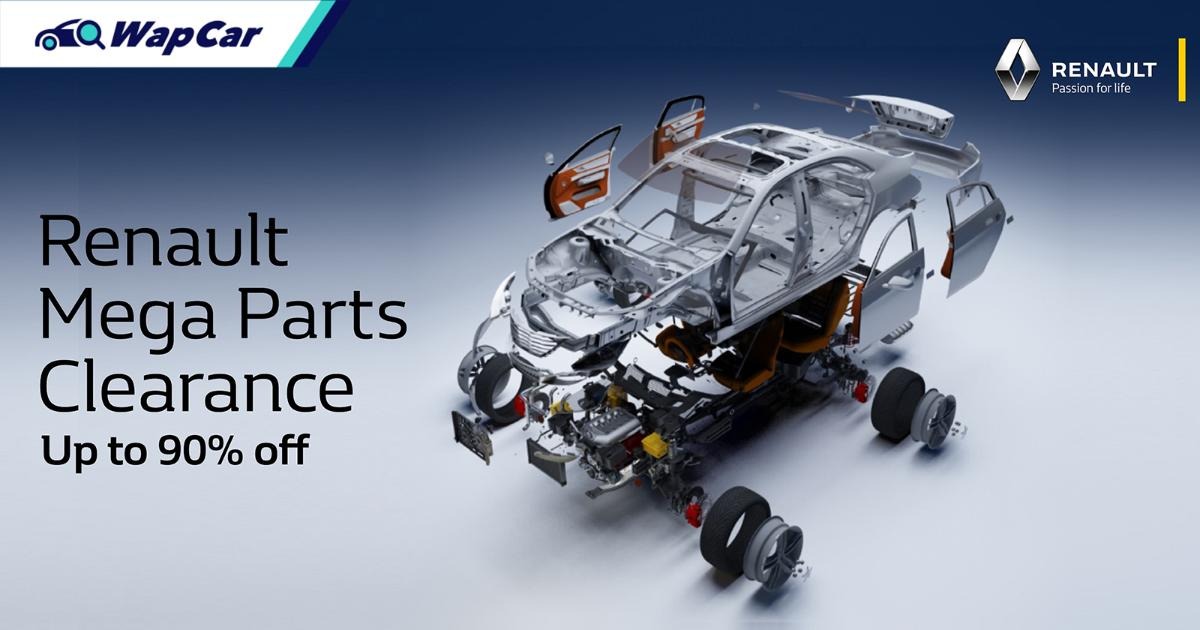 Up to 90 percent discount on selected parts for selected Renault models 01