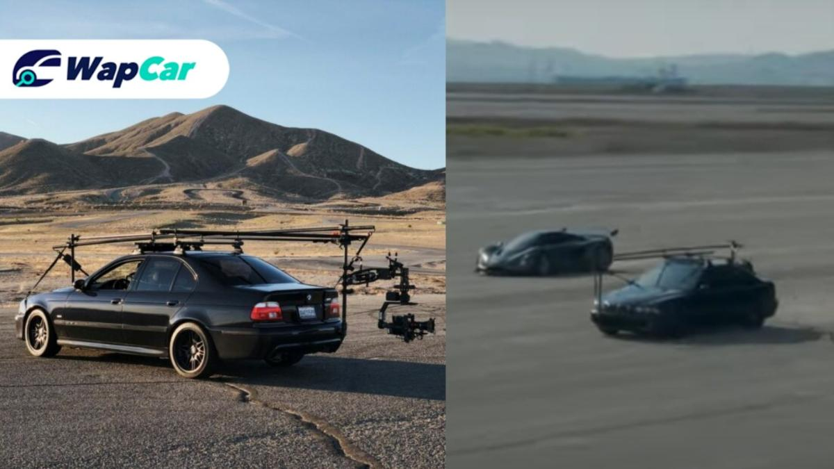 Remember this BMW M5 chasing down a land speed record car ad? It has come to life!  01
