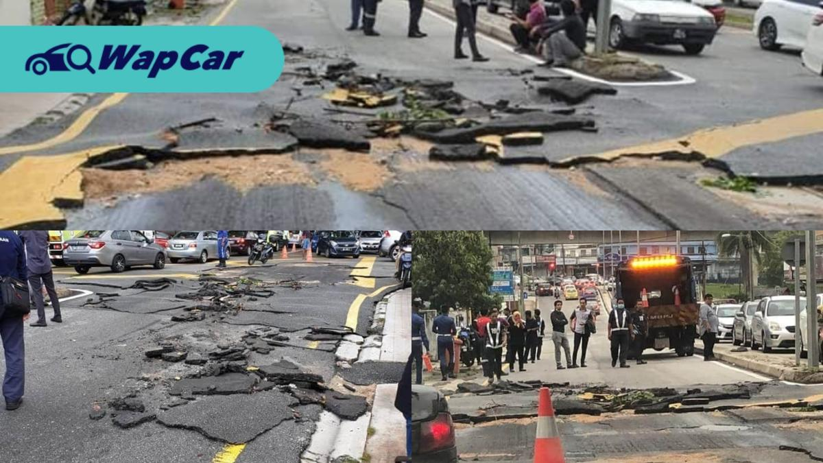 Beware of damaged roads near the Taman Bahagia LRT Station! 01