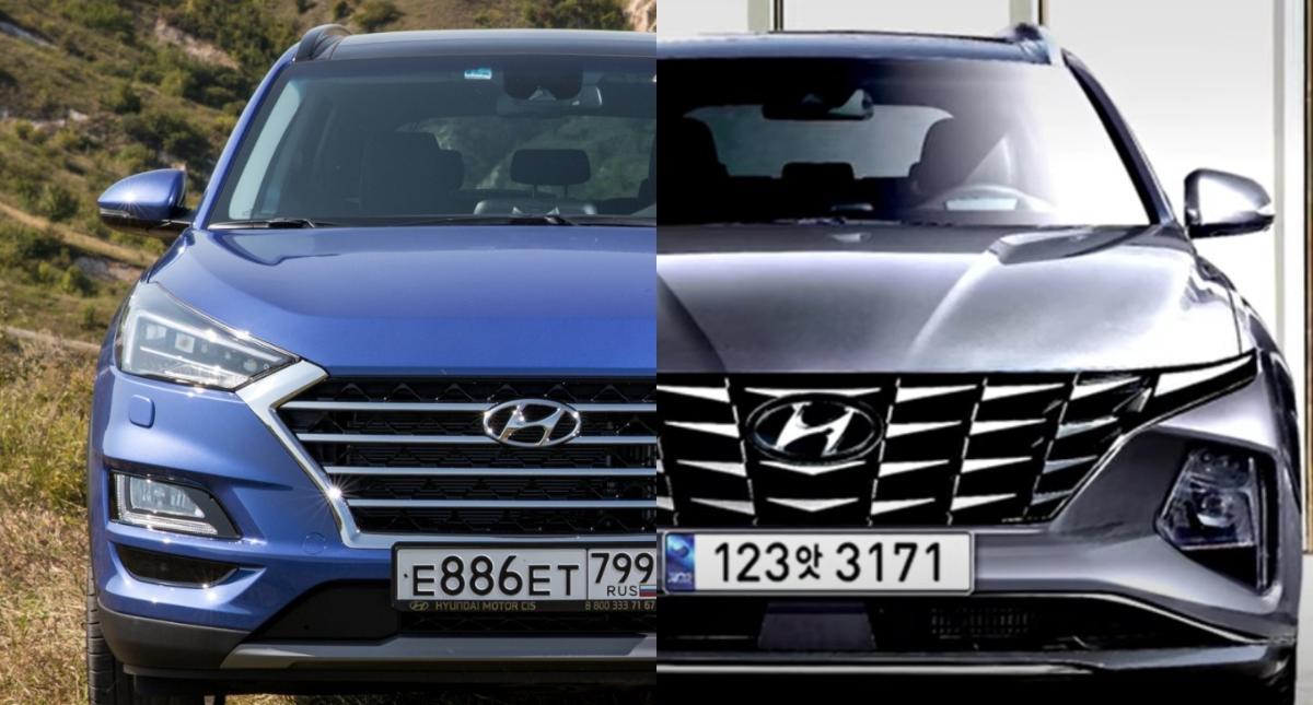 2021 Hyundai Tucson rendering vs old
