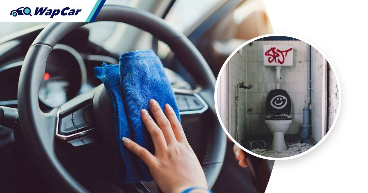 The steering wheel is 4 times dirtier than a public toilet bowl 01
