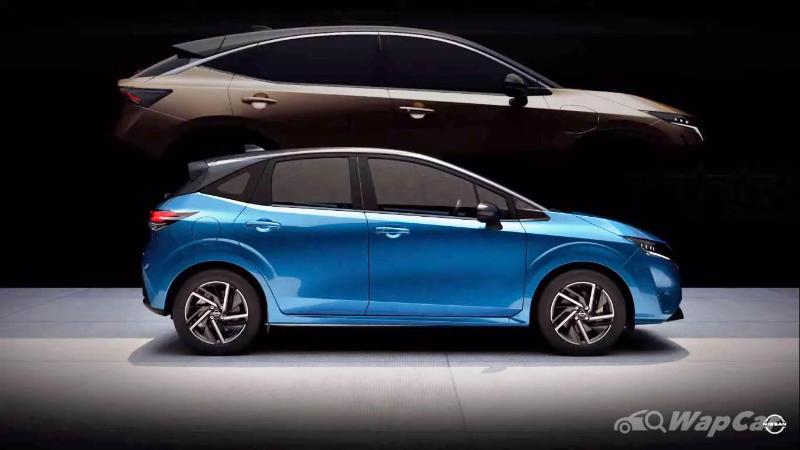 the 2021 nissan note is a rival to the honda jazz, but it
