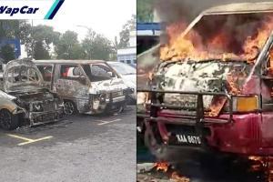 7 kenderaan terbakar di PPR Pantai Ria, ada unsur khianat dengan kesan simbahan petrol
