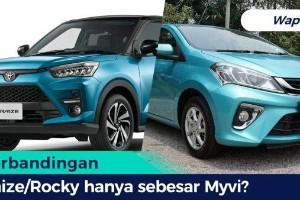 Saiz Toyota Raize / Daihatsu Rocky lebih kurang Myvi? Kami bandingkan untuk anda!