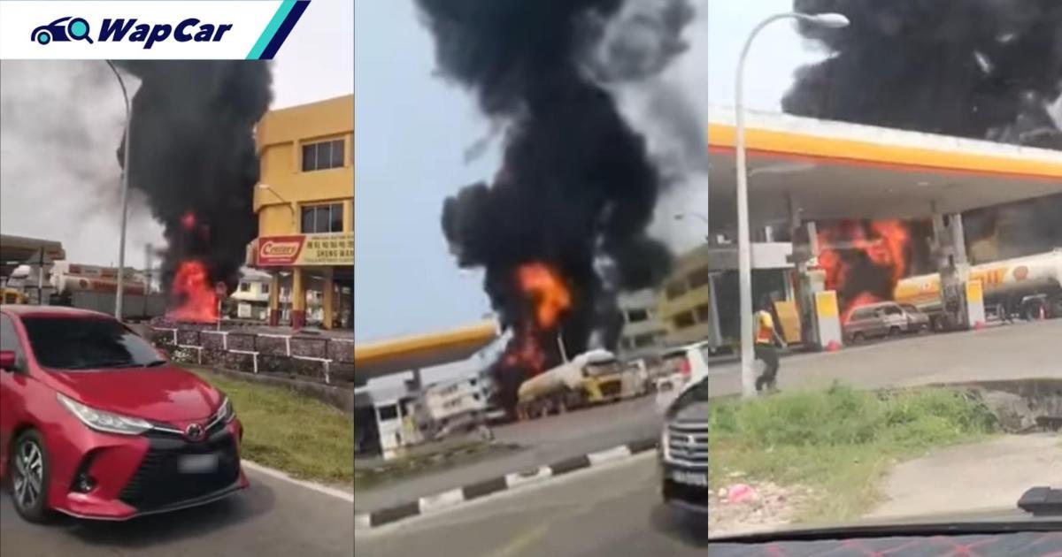 Underground tank in Sibu Shell Station catches fire; One employee injured 01