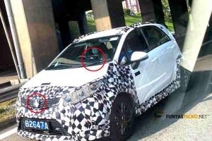Spied: New 2021 Proton Iriz MC2 facelift - upgraded infotainment, new round logo