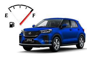 Perodua Ativa (D55L) fuel consumption, lower than Proton X50 & Aruz, up to 680 km per tank