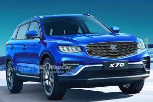 假想图:2021 Proton X70 MC1改款车型或将推出,搭载1.5 TGDI引擎?