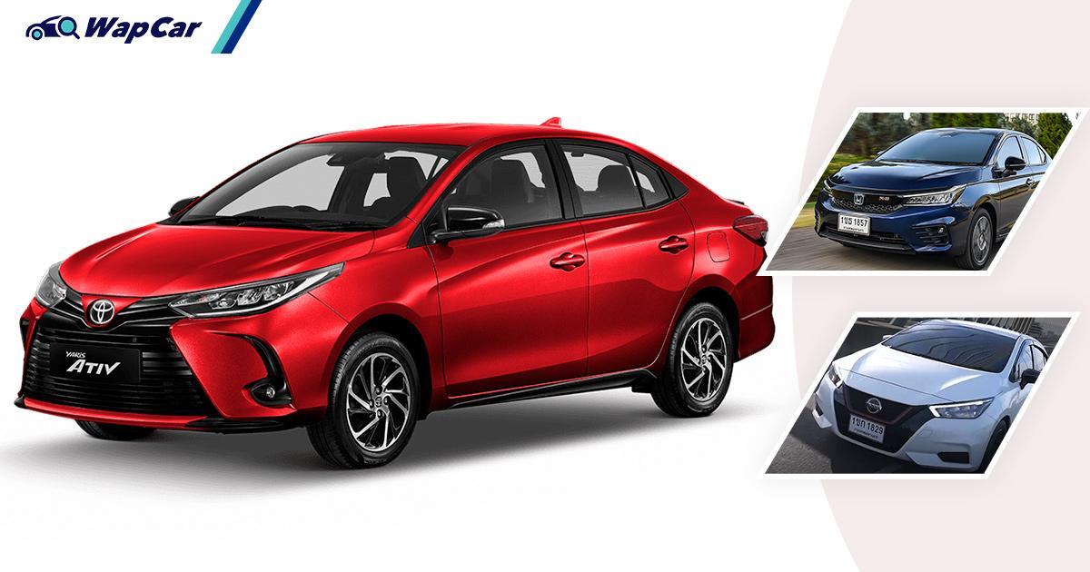 Isu cip: Toyota Yaris Ativ/Vios 'tapau' jualan Honda City, Nissan Almera di Thailand pada Mei 2021! 01