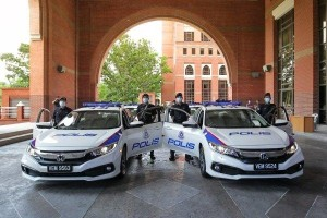 Honda Civic takes on PDRM patrol car duties