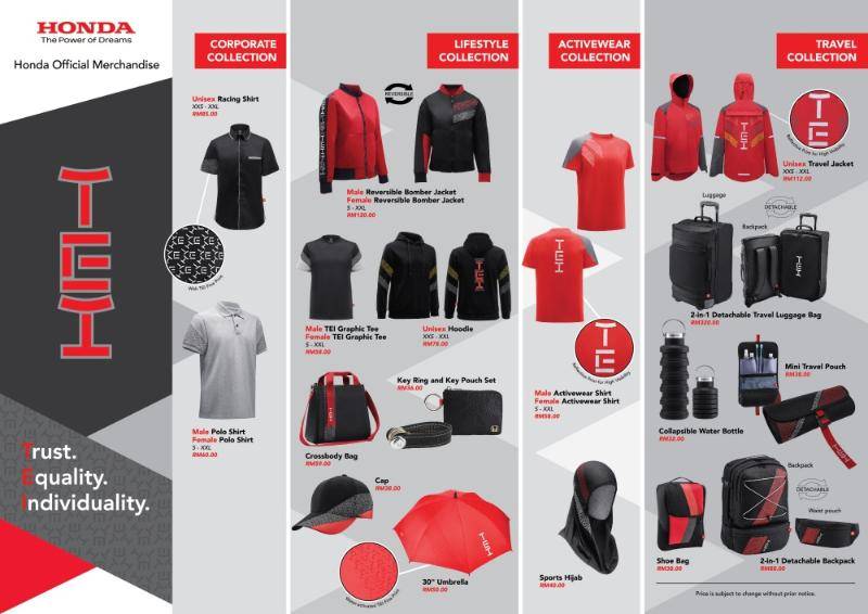 Honda Malaysia launches Honda Official Merchandise on Shopee 02